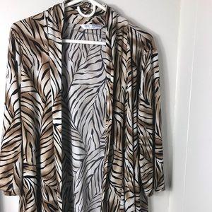 Women's Peter Nygard brown tiger print cardigan